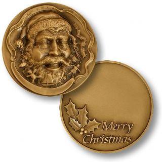 Santa Claus Christmas Coin Merry Christmas New Bronze