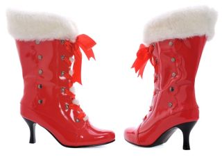 Santa Mrs Claus Christmas Holiday Costume Boots Heels