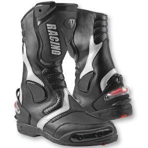 Vega Sport II Motorcycle Street Boots Black 8 13