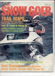 Vintage Snowmobile Magazine 1976 Polaris TX 440 Yamaha GS340 Skiroule
