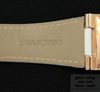 Swarovski Citra Square Crystal Rose Gold PVD Watch New