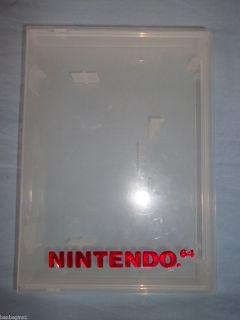 Nintendo 64 PLASTIC GAME STORAGE CASE Clamshell Clear Genuine OEM N64