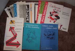 Lot Christian Sheet Music Choral Arrangements Christmas Worship