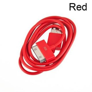 Multy Color USB Charger Cable Data Sync for iPod Touch Nano iPhone 4