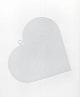 Clear Plastic Canvas Heart Shape Sheets Hexagon Star