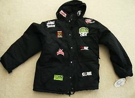 CLINCH GEAR MENS HOODIE BLACK LIMITED EDITION HENDO 93 TEAM PARKA SIZE