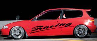 Honda Civic Sport Racing Car Vinyl Side Graphics 093