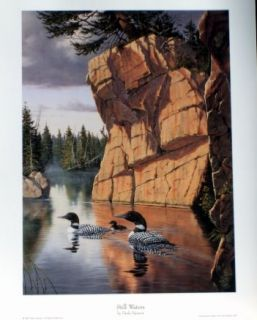 DERK HANSEN LOON PRINT Beside Still Waters 8.5X12