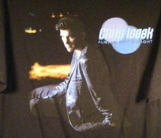 Chris Isaak Always got Tonight 2002 Concert Tour 2 x Large T Shirt Tee