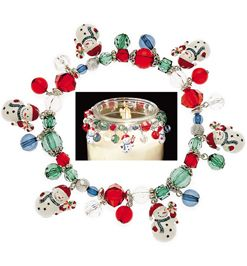 NEW Clementine Design Jar Candy Candle Charms Christmas Snowman