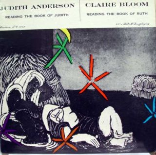 Judith Anderson Claire Bloom Book of Judith Ruth LP VG TC 1052 Vinyl