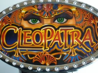 IGT Cleopatra I Game Plus Video Slot Machine with Lighted Topper and