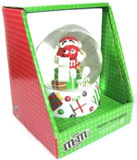 christmas snow globe santa hat original box