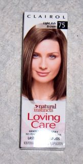 CLAIROL NATURAL INSTINCTS LOVING CARE LIGHT ASH BROWN 75 HAIR COLOR