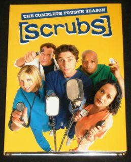 Scrubs Complete Fourth Season DVD Set Buena Vista 2006 starring Zach