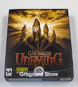 Clive Barkers Undying Horror PC Game Original Box Edtn