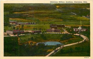 OK Claremore Oklahoma Military Academy Air View T17987