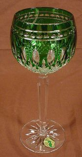 waterford wine glasses clarendon emerald green nib this is a