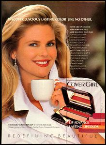 1992 Vintage Ad for Cover Girl Christie Brinkley 122