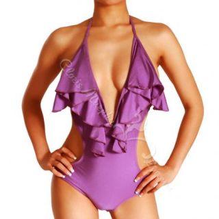 Cloris Murphy Women Sexy one piece Swimwear Monkini BN303 PU