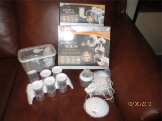 TOMMEE TIPPEE CLOSER TO NATURE SINGLE ELECTRIC BREAST PUMP + 2 SETS OF