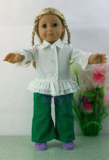 Doll Clothes Outfits For 18 American Girl Dolls Set New LATJ08