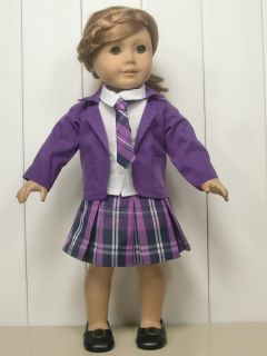 4pc Fashion Doll Clothes Outfit for 18 American Girl New Purple