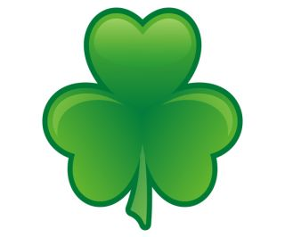Lucky Shamrock Irish Clover Ireland Car Vinyl Bumper Sticker Decal GRV