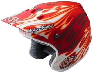 Troy Lee Designs D2 Open Face   Carbon Flame Yellow