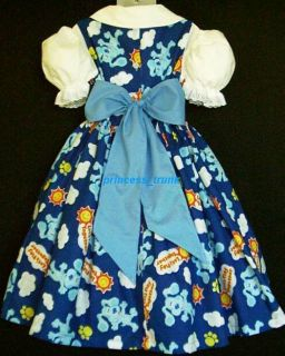 Princess Trunk VHTF Blue Clue Lets Play Blue Dress Set Custom Sz 12M