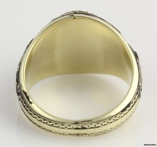 1968 United States Naval Academy Class Ring 14k Gold Syn Blue Spinel