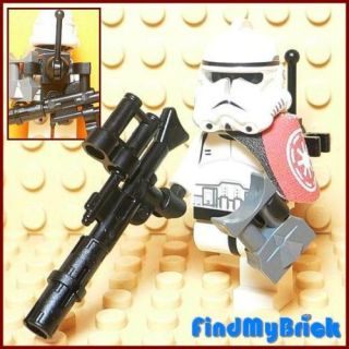 GT601B Lego Star Wars Clone Trooper & Gun   White   NEW