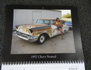 Classic Car Hot Rod Barn Find Muscle Car Rat Rod Women Calender New