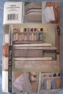 Vogue 7011 Closet Organizers Sewing Pattern Garment Bags Shelves