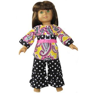 New Paisley Dots Outfit Fit American Girl Doll Clothes