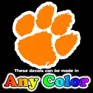 Clemson Tigers Paws 4 inch Pair of Auto Car Truck Window Stickers