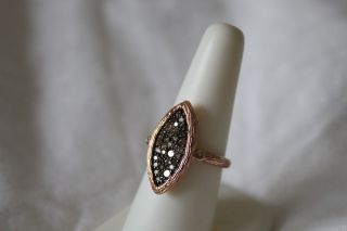 Coachella Luxe $2 250 14k Rose Gold 59 Carat Champagne Diamond Ring