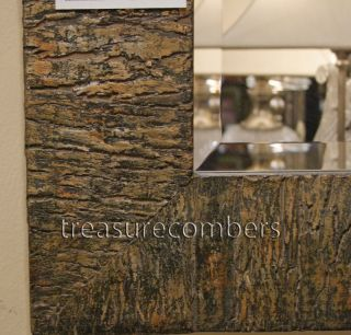 Coaldale Bark Frame Rectangular Wall Mirror