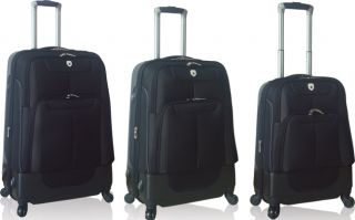 Travelers Club Lisbon Collection 3 Piece Hybrid Spinner Luggage Set