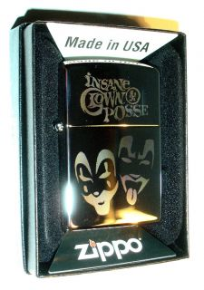 Insane Clown Posse Authentic Zippo Lighter w Case ICP