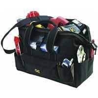 CLC 16 22 Pocket Black and Tan Large Bigmouth Tool Bag 1534