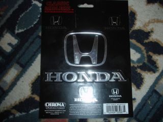 Chroma Graphics Honda Classic Emblem Decal Stickers New JDM 4 Stickers