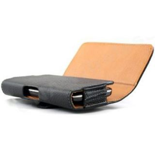 Leather Pouch Sleeve w Belt Clip for Apple iPhone 5 Black