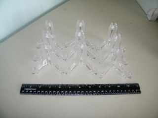 Lot 9 Small Clear Plastic Plate Display Stand Nicole 6900 Display