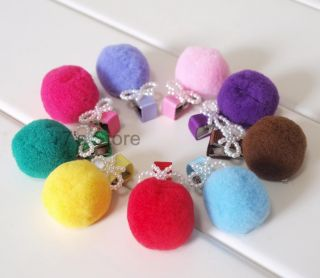 New Baby Toddler Girl Pom Pom Bow Hair Snap Clip Barrette 9 Color U