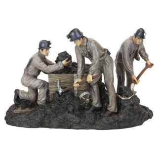 This beautiful classic Working Coal Miners figurine is made of high