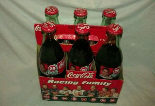Coke Racing Family 6 pack 8 oz Glass bottles Tony Stewart 20