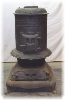 King Bee Air Blast Cast Iron Wood Coal Pot Belly Stove Peoria Illinois