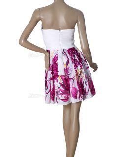 Chiffon Ruffles Rhinestones Short Cocktail Dress 03380 US Size 4