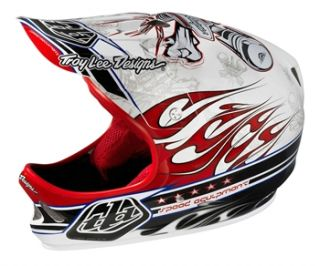 Troy Lee Designs D2 Composite   Piston White/Red